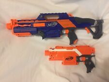 Nerf Lot Orange Stryfe & Rapidstrike CS-18 PARTS OR REPAIR SEE DESCRIPTION