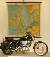 Wandkarte Die Nordsee Seekarte vor Versailles Wassertiefen 172x178 vintage ~1915