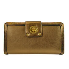 NEW Marc by Marc Jacobs Totally Turnlock Clutch Wallet Bronze