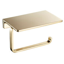 Toilet Roll Paper Holders Solid Brass Gold Mounted Tissue Dispenser Storage