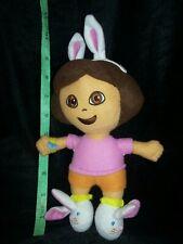 "9"" Dora the Explorer Plush Stuffed Dora Easter Bunny slippers headband Toy Doll"