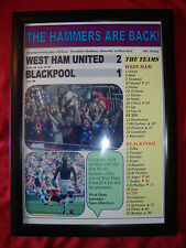 West Ham United 2 Blackpool 1 - 2012 play-off final - framed print