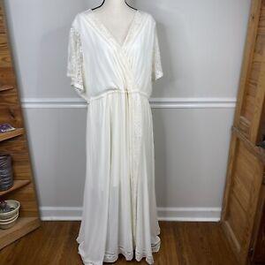 Torrid 3  24 Maxi Dress Insider Collection Greek Goddess Wedding Boho Ivory Lace