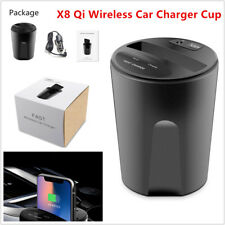 Qi Wireless Fast Charger Cup Style USB Car Charging for Iphone X / 8 Galaxy S8