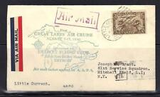 CANADA 1930 LITTLE CURRENT ONTARIO FIRST GREAT LAKE AIR CRUISE TO DETROIT, MI