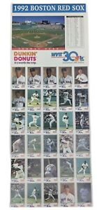 Vintage 1992 Boston Red Sox Uncut Player Photo Collection Dunkin Donuts WVIT CT