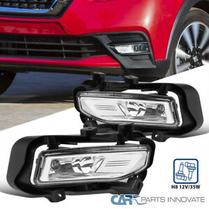 For 18-19 Nissan Kicks Front Bumper Clear Fog Lights Lamps+Switch+Wiring Kit