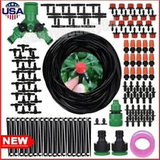 Micro Drip Irrigation System Plant Lawn Garden Watering Hose Spray Sprinkler Kit