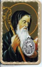 Carte médaille image pieuse plastifiée Saint Benoît 8,5 cm
