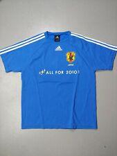 Adidas T-shirt Size Medium Japan Jfa 2010 #7 soccer football trefoil stripes