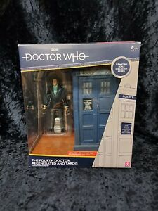 DOCTOR WHO -The Fourth Doctor Regenerated and TARDIS Collector Figure Set- (NEW)