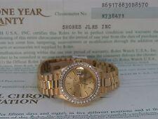Rolex Ladies President 18K Gold Champagne Diamond Bezel 69178 Quickset