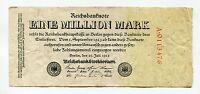 Germany 1 Million Mark Reichsbank Note Dated 1923 German Inflation Paper Money