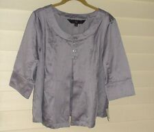 """""""Mossimo"""" Silver Cotton & Polyester Jacket/Top w/3/4 sleeves~Size: L~NWOT"""