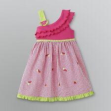 NWT NIP YOUNGLAND Watermelon picnic pink Gingham girl dress sz 4 $28.00