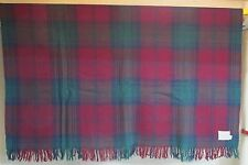 VINTAGE LAND'S END COMING HOME PLAID 100% WOOL THROW BLANKET 60 X 54 USA
