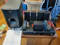 Teac PL-D2000 dvd Home theater surround sound system with Remote and manual