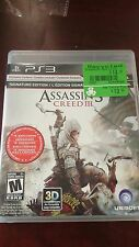 Assassins Creed III For Sony PlayStation 3.
