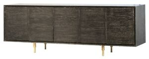 "79"" L Large Adalrico Sideboard Red Oak Solid Wood Stainless Steel Base Modern"