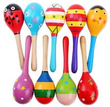 Wooden Toys Kids Montessori Educational Wood Puzzles Sand Hammer Hand Bell