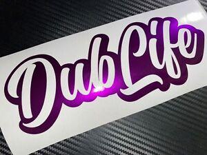 PURPLE SHIMMER METAL Dub Life Car Sticker Decal VDUB VAG VEEDUB BUG BUS Gti