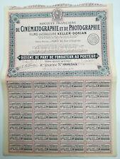 Action et titre SOC.FRANCAISE DE CINEMATOGRAPHIE ET PHOTOGRAPHIE