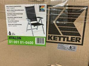 Pliantes Blanc Lot de 2 chaises Kettler Nizza pour le jardin