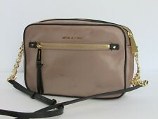 785171c42012 NEW Michael Kors Polly Large Messenger Crossbody Dune Nylon Bag