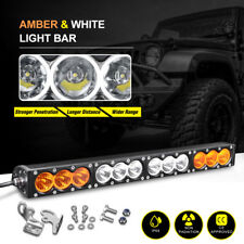 22inch 150W Single Row Led Light Bar Spot Flood Offroad Amber White Driving Jeep