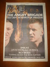 NME 1986 APRIL 19 FLAMING GROOVIES SHEILA E BILLY BRAGG MORRISSEY