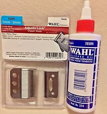 WAHL 3 HOLE BLADES FITS DESIGNER, SENIOR,STERLING 4, VACUUM, #1005 & 4 OZ OIL