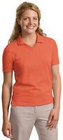 Port Authority Women's Crossover Short Sleeve V Neck Polo Shirt. L455
