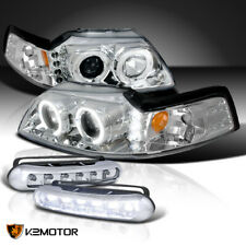 New Listingfit 99 04 Mustang Halo Projector Headlights Lampsled Daytime Bumper Fog Fits Mustang
