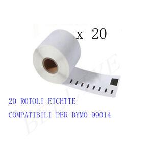 20 X ROTOLI Etichette Compatibili per DYMO 99014 54mmX101mm LABELWRITER 400 450