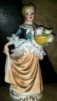 Vintage Hand painted Porcelain Girl figurine- Made in Japan