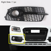 Front Right Side Grille Black Fog Lamp Cover Trim Fit For Audi Q5 S-Line 2013-16