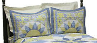 """PDK Regency French Star Quilted Pillow  Sham, 30"""" x 24"""", 1 Sham"""