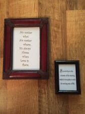 Decor Lot Framed Glass Sayings Quotes Inspirational Decor