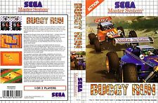 Buggy Run Sega Master System Replacement Box Art Case Insert Cover
