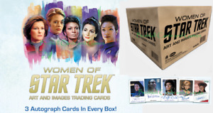 2021 Women of Star Trek Art and Images Factory Sealed 12 Box CASE w/ 36 Auto's &