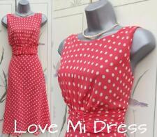 Wallis-Jahre durchzuführen Stil Polka Dot Tea Dress 14 EU42