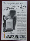 Vintage Ad (1930) GE All-Steel Refrigerator with the Monitor Top photo