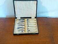 Vintage EPNS A1 Silver Plate Boxed Set of Six Fish Knives & Forks
