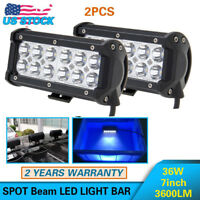 2PCS 36W LED Work Light 4WD OFFROAD ATV SUV UTE JEEP Fog/Driving Spot Lamp