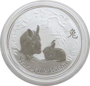 2011-P Australia Perth Mint Lunar Rabbit $2 Two Dollar .999 Silver 2oz Coin