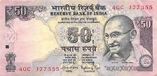 India  50  Rupees  2015  Series  4GC  Circulated Banknote M18J