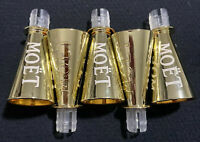 MOET CHANDON CHAMPAGNE GOLDEN SIPPERS FOR MINI SPLIT BOTTLES x 5