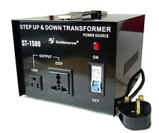 Goldsource 1500Watt Step up & Step Down Voltage Converter Transformer UK->US->UK