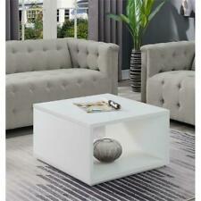 Convenience Concepts Northfield Admiral Square Coffee Table in White Wood Finish