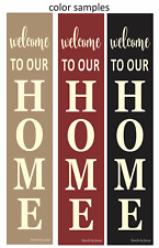 """Joanie 50"""" Stencil 3 pc Vertical HOME Welcome DIY Family Porch Decor Craft Signs"""